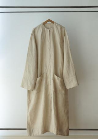 リネン シングルジャケット – ロング –