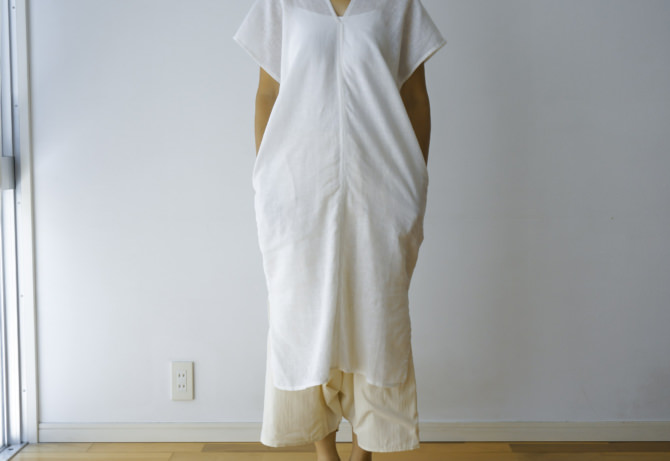 siz=ONE/col=WHT [Bottoms]IR-P-139/3NS(NS Cotton YAO Pants)/siz=ONE/col=NTL (model=160cm/5'2'')