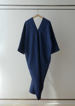トリプルガーゼ カレンドレス- 七分袖-