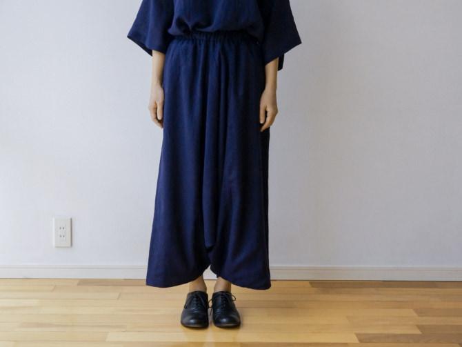 siz=ONE/col=NVY [Bottoms]IR-B-224TN736(Cotton&Linen DARUMA Shirts)siz=ONE/col=NVY (model=160cm/5'2'')