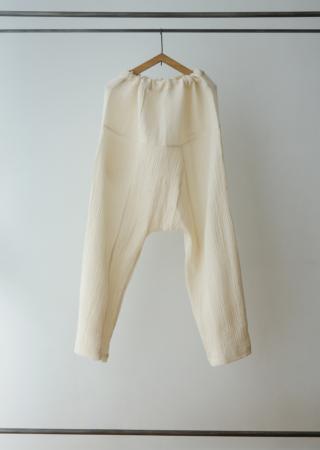 ダブルガーゼ タイスタイルイージーパンツ ロング/1ポケット