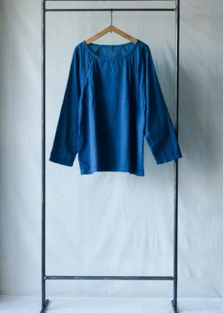 【+KORURI】NSコットン ラグランプルオーバーシャツ