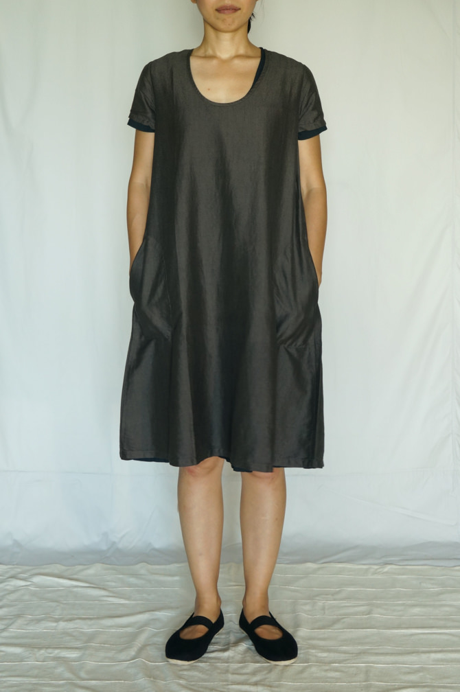 col.チャコール(BROWN) ,size.S , model=160cm(5'2
