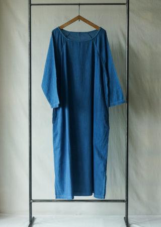 【+KORURI】 NSコットン ワンピース-七分袖-