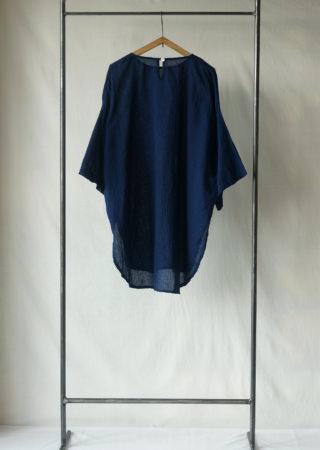 +KORURI 天然染 薄コットン ダルマシャツ