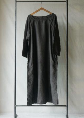 【+KORURI】タイシルク ワンピース-七分袖-