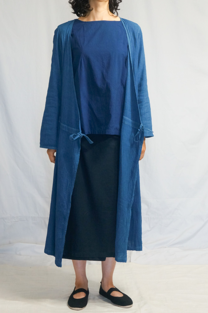 col.青(BLUE) | size.M | model=163cm