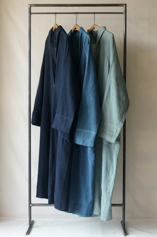 (from left to right) col.紺(NAVY) ,青(BLUE) ,水色(Light BLUE)