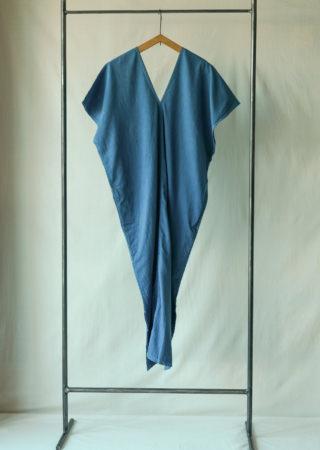 +KORURI 天然染 NSコットン カレンドレス -半袖-