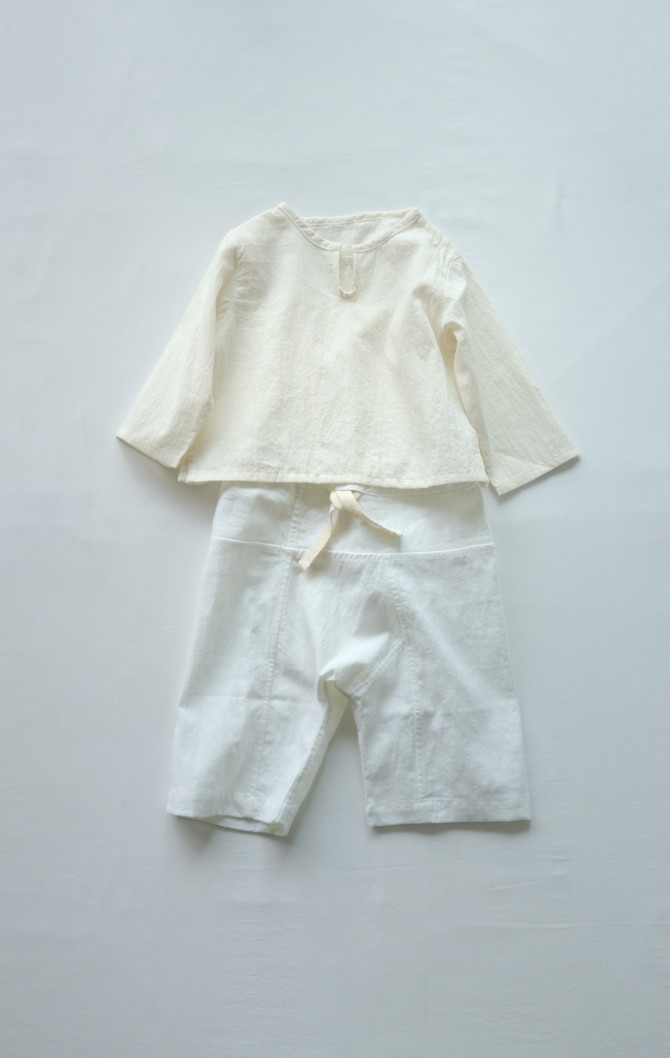 [Tops]col=NTL [Bottoms]IR-BP-127TN1088(Hemp Cotton Kid's Pants)/size=ONE/col=WHT