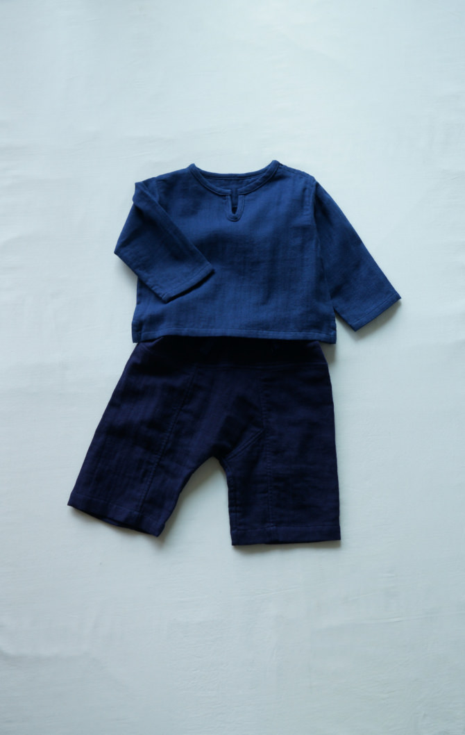 [Tops]col=NVY [Bottoms]IR-BP-127TN9696(Linen Cotton Gauze Baby's Pants()/size=ONE/col=NVY