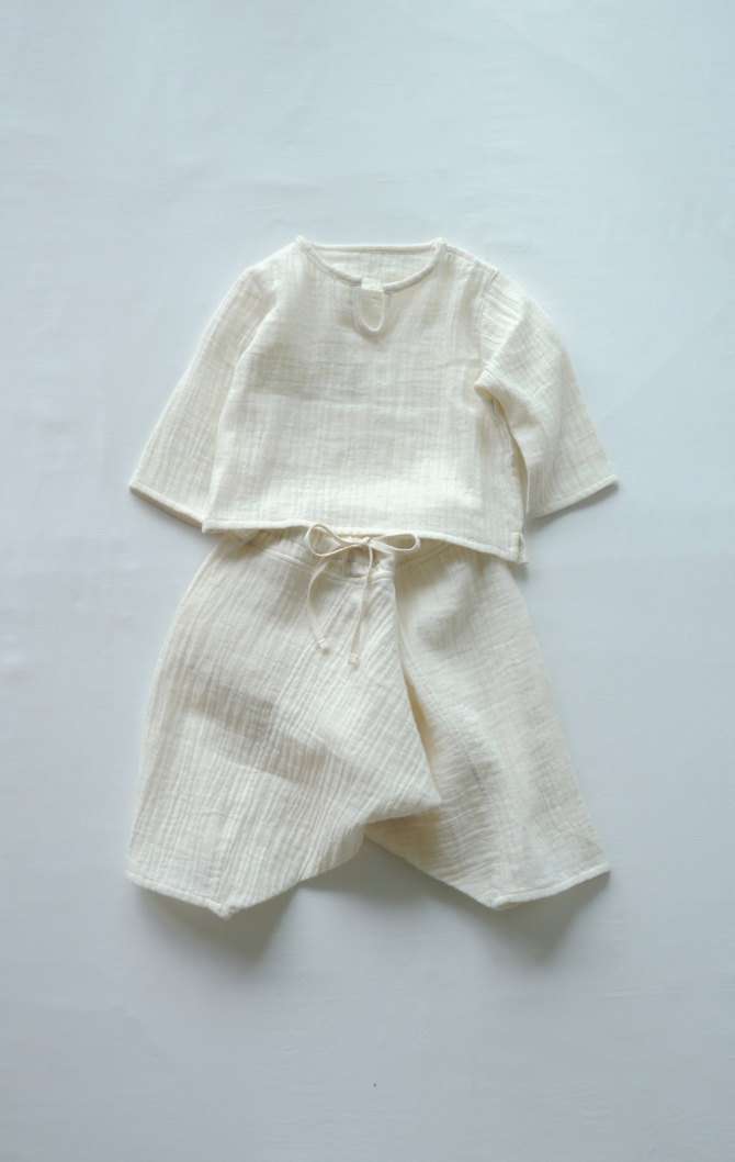 [Tops]col=NTL [Bottoms]IR-BP-230WG(Double Gauze Baby's YAO Pants)/size=ONE/col=NTL