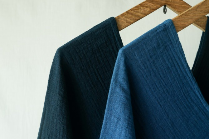 left) col.紺(NAVY) right) col.青(BLUE)