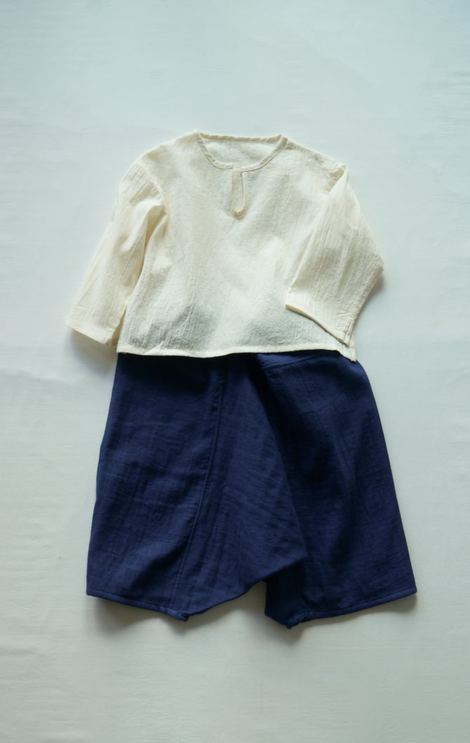 [Tops]col=NTL [Bottoms]IR-KP-230WG(Double Gauze Kid's YAO Pants)/size=ONE/col=NVY