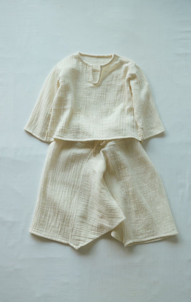[Bottoms]col=NTL [Tops]IR-KB-147WG(Double Gauze Kid's Blouse)/size=ONE/col=NTL)