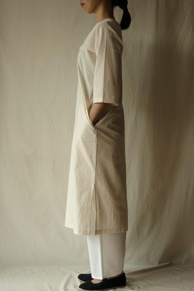 col.NTL | model=160cm ※Pants=IR-P-196'NS, col.WHT size.M