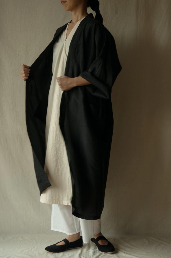 col.BLK | model=160cm ※Dress = IR-D-234*PO col.NTL , Pants=IR-P-196'NS WHT size.M