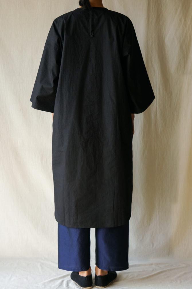 col.BLK |model=160cm ※Pants=IR-P-228TS (Thai Silk Meditation Pants)col.NVY, size.S