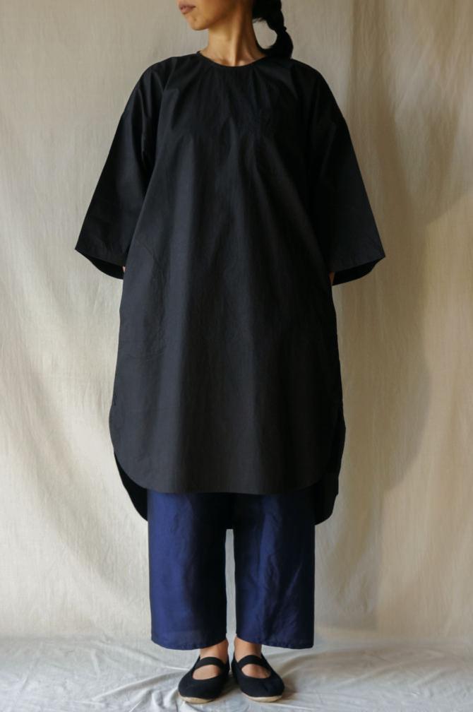 col.BLK |model=160cm ※Pants=IR-P-228TS (Thai Silk Meditation Pants) col.NVY, size.S