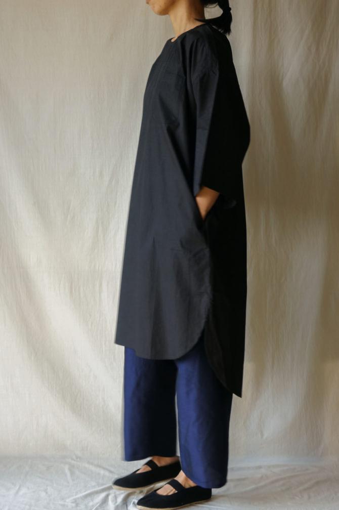 col.BLK |model=160cm ※Pants=IR-P-228TS(Thai Silk Meditation Pants) col.NVY, size.S