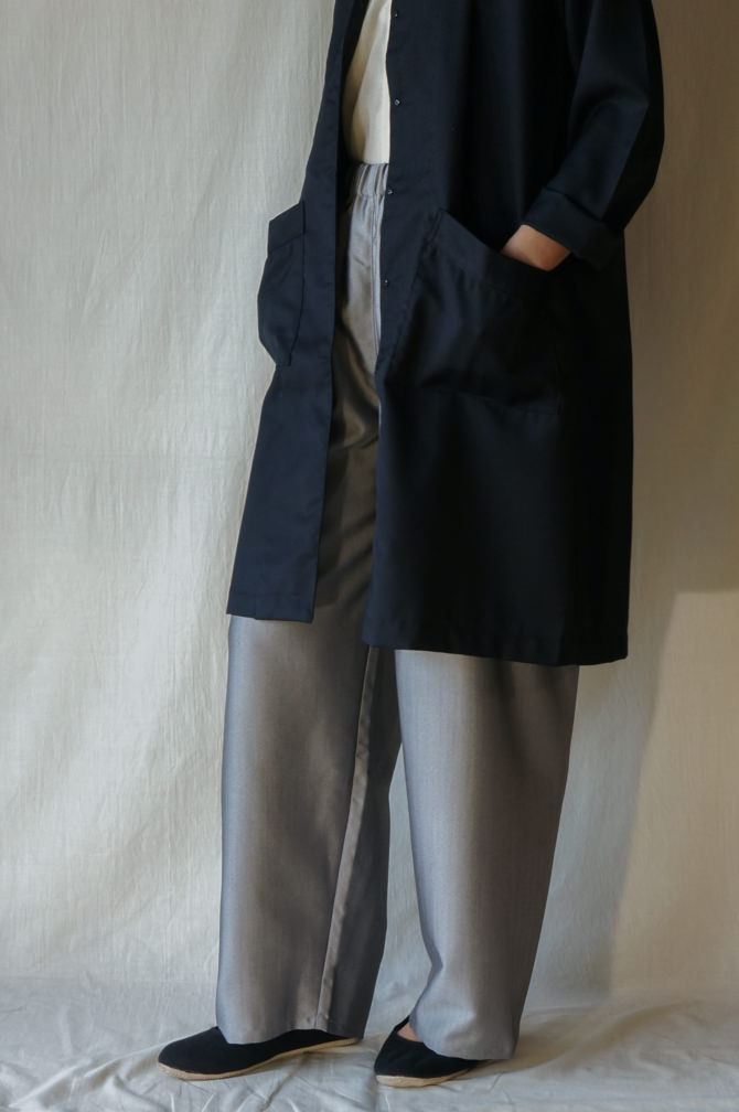 col.GRY size.M | model=160cm ※OUTER = IR-C-161CW col.NVY , size.S