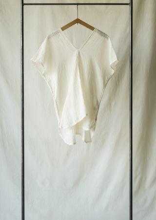 SCコットン ツバメシャツ 裾ラウンド