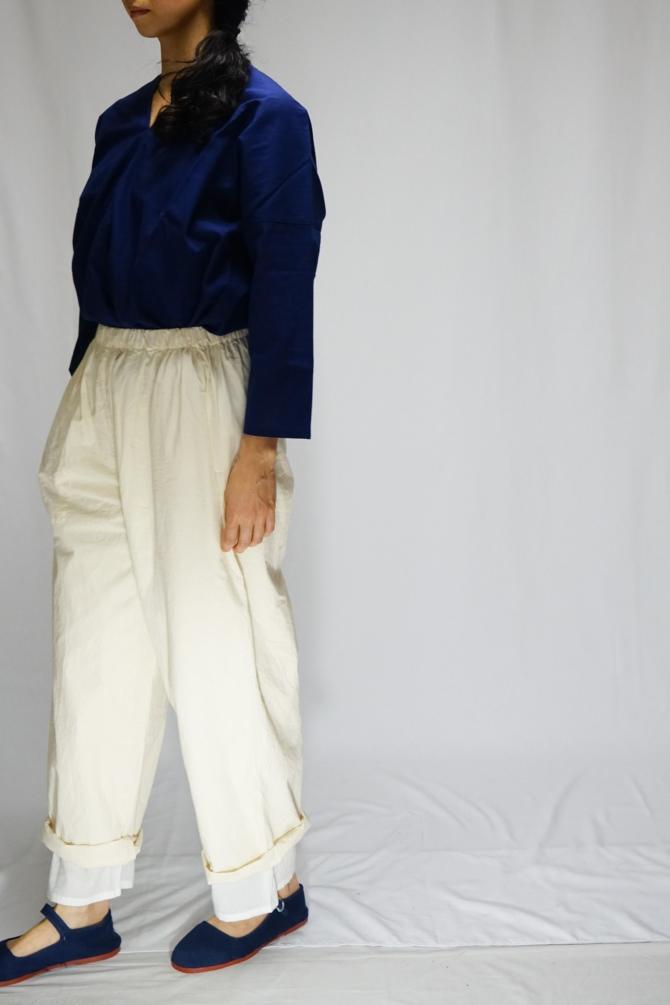 col.NTL/size.S   model=162cm ※Karen Shirts...#IR-B-206NS,col.NVY