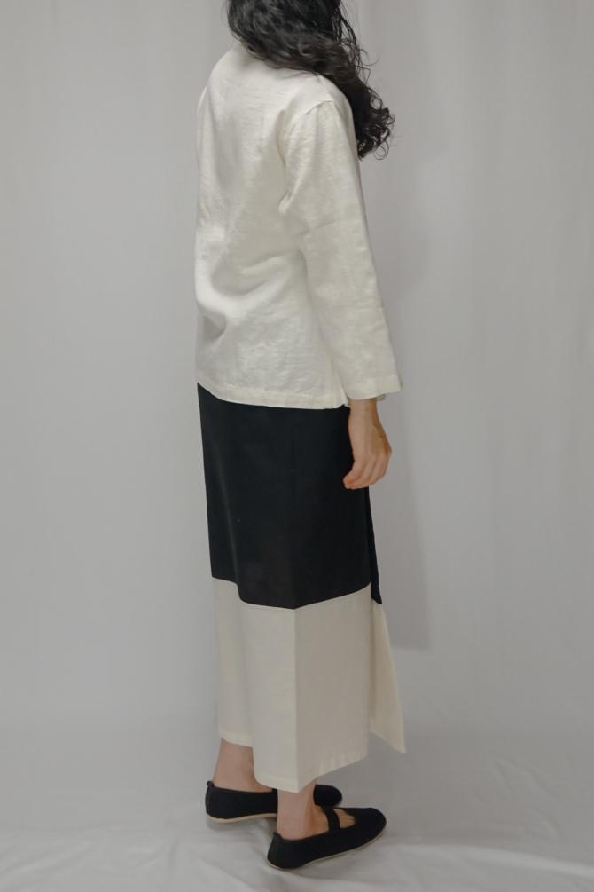 col.BLK |model=162cm ※Jacket ... Tai Lu Jacket ,col.WHT