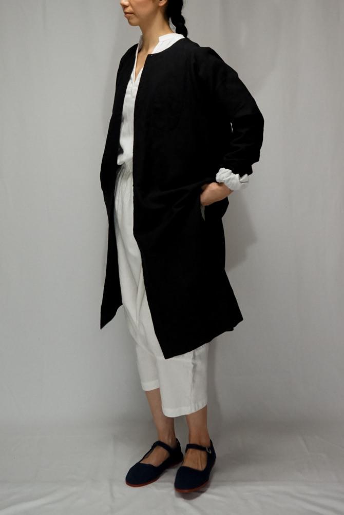 col.WHT | model=162cm ※Pants...#IR-P-252CMCT,col.WHT, size.S ※Long Chinois Blouse...#IR-LB-244NJ16,col.BLK,size.L