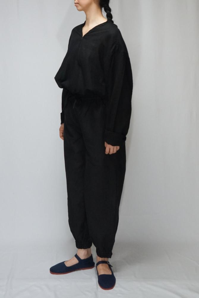 col.BLK | model=162cm ※Pants...#IR-P-242NJ16,col.BLK, size.S