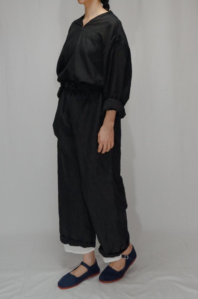 col.BLK / size.M (Rollup Lenght)   model=162cm ※Big Shirts...#IR-B-246SC,col.BLK