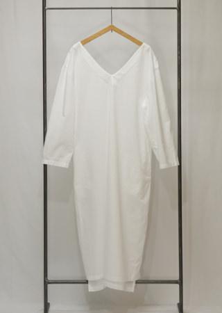 コットンVネックドレス