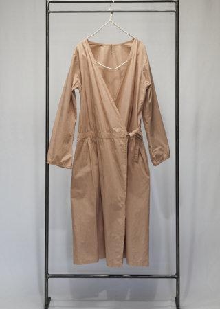+KORURI 天然染 高密度綿 カシュクール ワンピース-長袖-