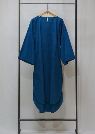 +KORURI 天然染 高密度綿プルオーバードレス