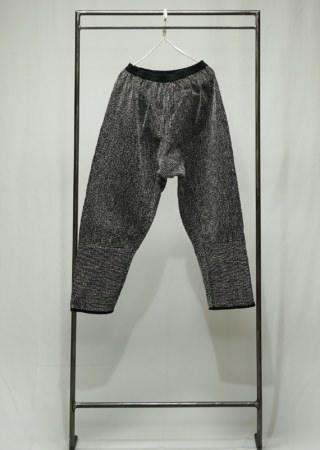 刺し子モンペパンツ(黒/白)②